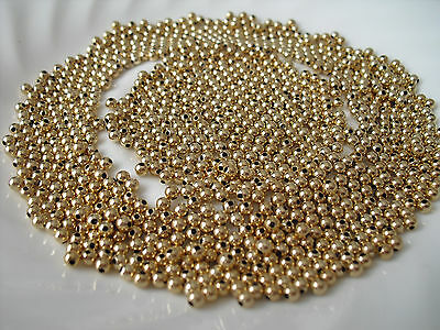 50 pcs / Fifty 14K Round Solid Yellow Gold Beads 3mm USA seller