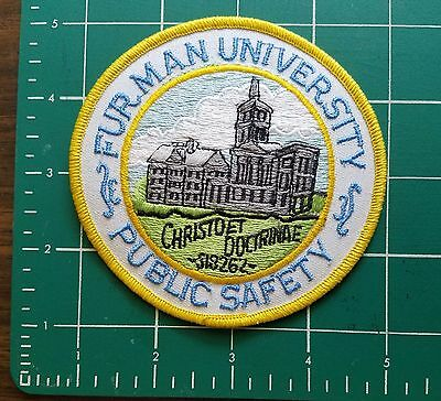 Furman University Greenville Upstate Sc College Public Safety Police Patch