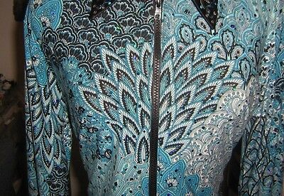 Girl L turquoise  Horsemanship pleasure rail jacket western show shirt