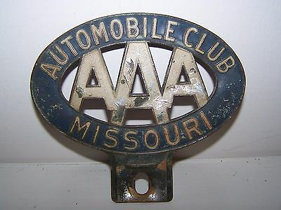 Vintage Missouri AAA Motor Club Charter Member License Plate Topper