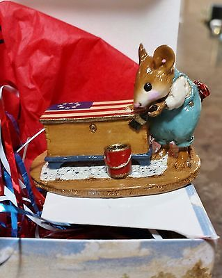 "Wee Forest Folk M-266 ""Brushing Up"" Limited Edition 2002 FLAG Mint"