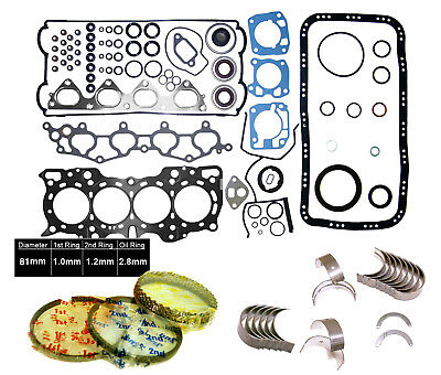 90-01 Acura Integra 1.8L DOHC B18A1 B18B1 Full Gasket Set ENGINE *RE-RING KIT*
