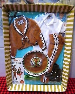 """New In Box~1964~""""ken"""" Doll~Travel Series~*ken In Mexico*~#0778~Costume~Nrfb~Mint"""