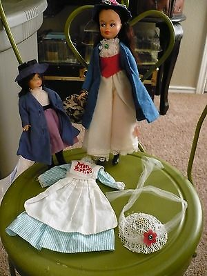 2 Gorgeous Vintage Mary Poppins Dolls-With Accessories