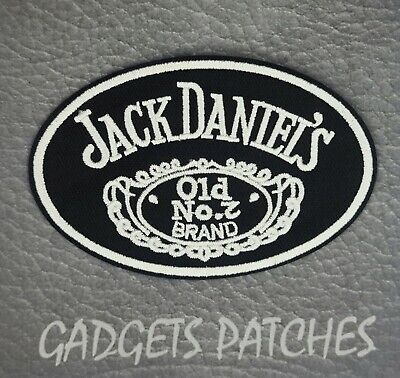 Jack Daniels Biker Motorcycle Vest Embroidered Patch Applique Badge Iron Sew On