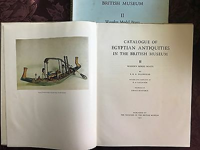 Catalogue Egyptian Antiquities British Museum.Wood Model Boats Funerary Barque