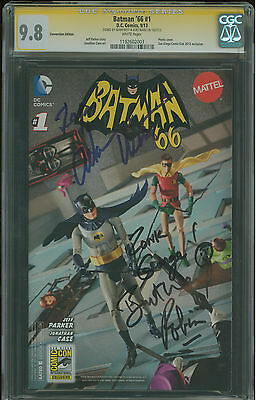 Batman '66 #1 CGC 9.8 SDCC variant Adam West and Burt Ward signature series