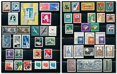 Poland Collection of 51 MNH Stamps & 1 SS (763a) - 1957 to 1961 - Complete Sets