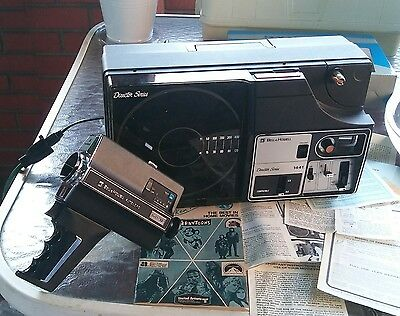 1975 Bell and Howell Projector WITH 670/XL Film Recorder AND Original Documents