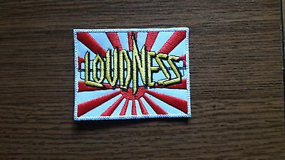 Loudness,sew On Red And Yellow Embroidered Patch