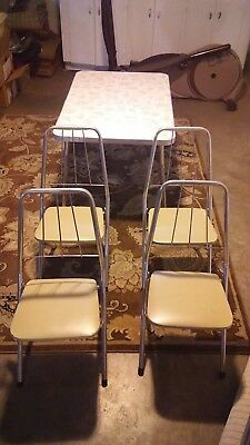 Vintage retro childrens table and chairs set kids