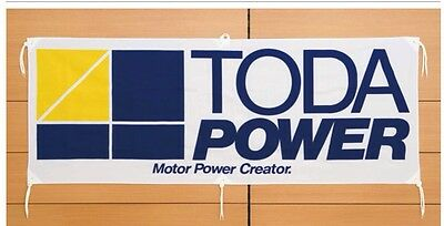 "Toda Racing Power Shop Or Garage Cloth Banner Flag Bnib 60"" X 23"" Jdm"