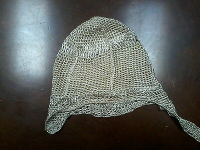 Elegant 1930s Vintage Crochet Baby or Doll Bonnet Beautiful Gold Material