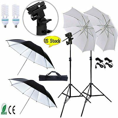 4x33''Photo Studio Lighting Umbrellas Camera Video Photography Light Lamp Kit BP