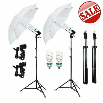 Photography Umbrella Light Bulbs Studio Photo Continuous Lighting Stand Kit BP