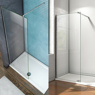 1950mm Wet Room Shower Screen Enclosure NANO Glass Panel Optional Support Bar S