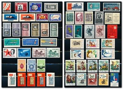 Poland Collection of 58 MNH Stamps - 1961 to 1963 - Complete Sets