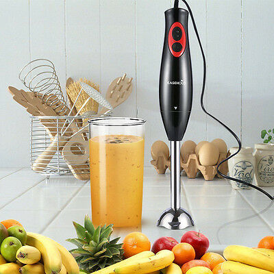Stock in AU Electric Handheld Blender Mixer Juicer Stainless steel Processor+Cup