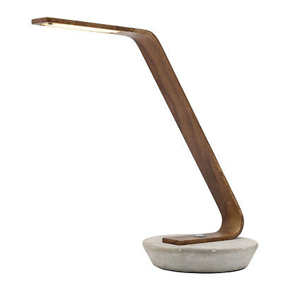 NEW Mercator Harrison Timber Style LED Touch Table Lamp