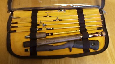 Eagle Claw Wright Mcgill Trailmaster No. Trp 603 8 Piece 5 Way Rod In Case