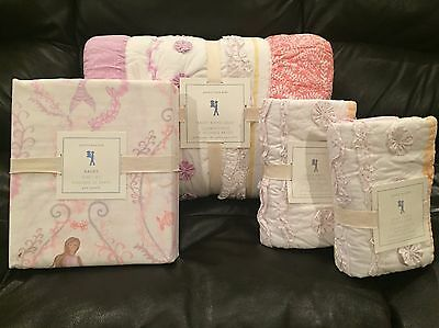 NEW Pottery Barn Kids Bailey Full/Queen Quilt, Shams, Mermaid Qn Sheet Set Coral