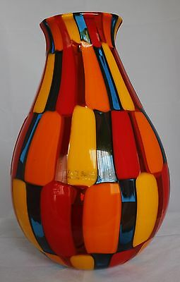 Spectacular Murano Pezzato Vase – Signed By Angelo Ballarin