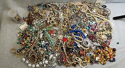 Vintage - Now Junk Drawer Jewelry Lot 6.25 LBS Crafts Parts Harvest Repurpose