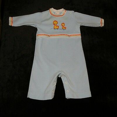Sweet Vintage Carter's Baby Boy's Longall Romper Coverall Duckies 3 Months Evc