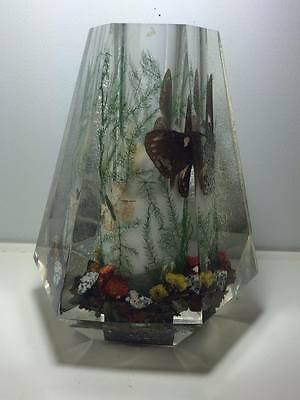 Vintage acrylic lucite butterfly vase