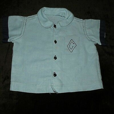 Vintage/antique Handmade Boy's Button Up Shirt Approx 2T-3T Vgvc