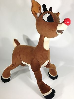 """Large Rudolph The Red Nose Reindeer Plush 24"""" Tall Nanco Stuffed Animal Doll"""