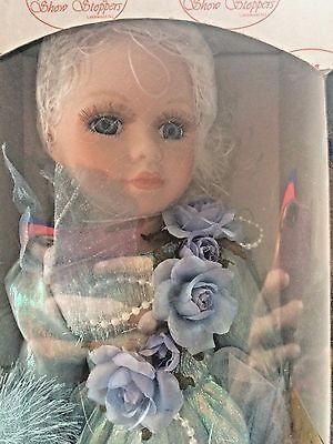 WHISPY BLUE FAIRY CUTE DOLL R966 By Show Stoppers Collectible Porcelain