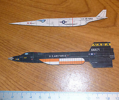 Lot 2 magnets AVIONS X-Planes  X-3 Stilleto et X15A2 NASA new