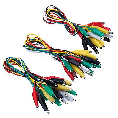 eBoot 30 Pieces Test Leads with Alligator Clips Set Insulated Cable Double...