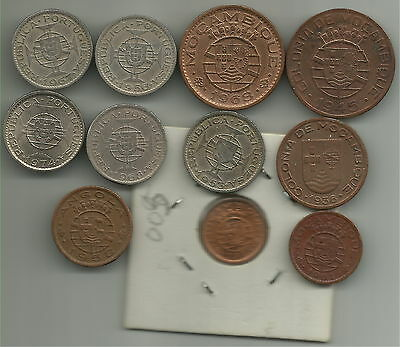 Lot of 10 coins Angola/Moçambique ex colonies of Portugal, C067