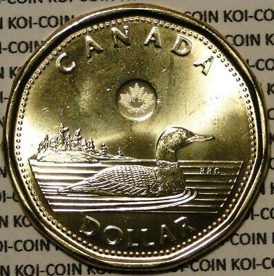 BU UNC Canada 2016 loonie $1 dollar coin from mint roll