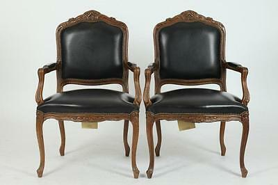 PAIR OF ITALIAN 20TH CENTURY LEATHER UPHOLSTERED ARM CHAIRS IN THE LO... Lot 510