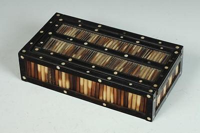 """ANGLO INDIAN PORCUPINE QUILL BOX. - 1 3/4"""" tall x 3 13/16"""" deep x 7 1... Lot 331"""