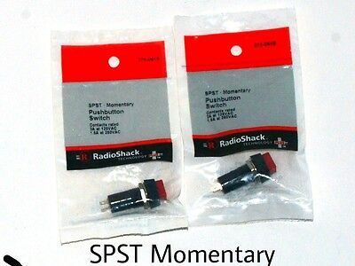 SPST - momentary push button switch • 3A 125v AC  new 2 pcs