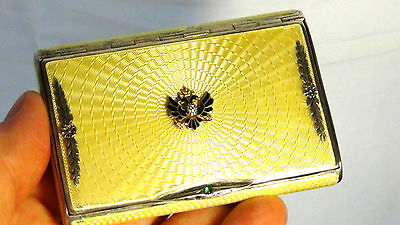 Antique Imperial Fine Russian Faberge Silver Guilloche Cigarette Case, Hallmark