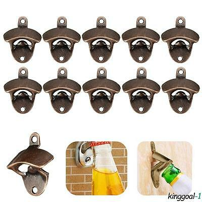 10X Beer Wine Bottle Open Cap Bar Openers Bar Bronze Wall Mounted Kitchen Tool