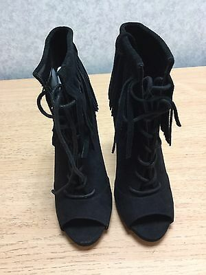 new look size 7 black suede ankle boots 163 2