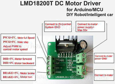 5V PWM Adjustable Speed LMD18200T Motor Driver Control Module for Arduino R3 MCU