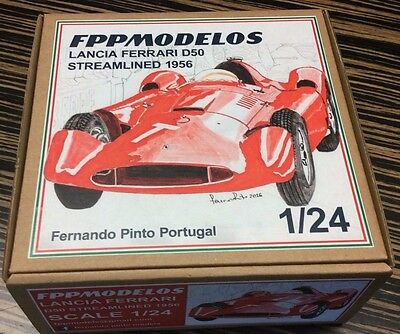 LANCIA FERRARI D50 streamlined F1  unassembled kit 1/24th scale   FPP modelos