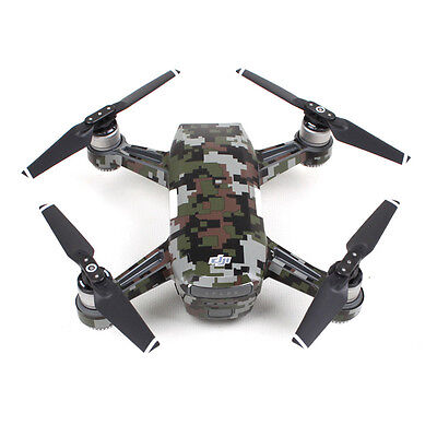 Spark Protection Carbon Fiber Army Graphic Cover Skin Anti Scratch Camera Drone