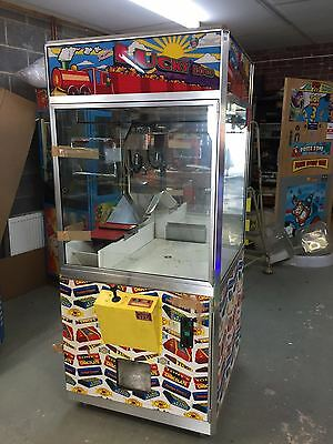coin operated lucky loco sweet grabber and pusher arcade machine