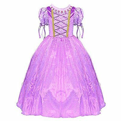 Kids' Clothing Girls Princess Rapunzel Purple Dress Party Cosplay Costume Gift