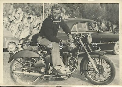 Original photograph, Matchless motorcycle 1948/50ca.