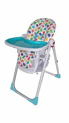 Cute Baby  - Blue Recline Compact Padded Baby High Low Chair