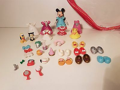 Disney Parks Minnie Mouse Polly Pocket Magiclip Set In Heart Case